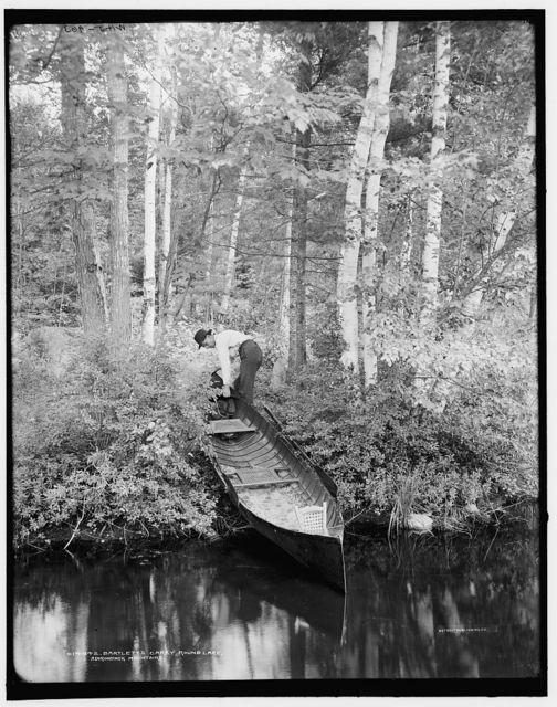 Bartlett's carry, Round Lake, Adirondack Mountains