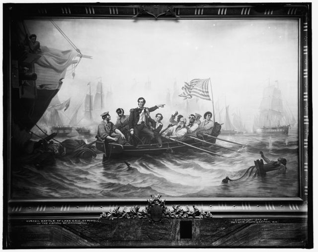 Battle of Lake Erie, by Powell, in the capitol at Washington