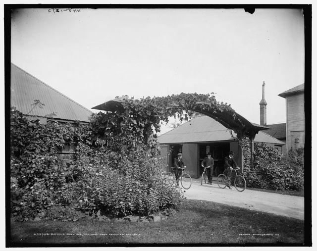 Bicycle shelter, National Cash Register [Company], Dayton, O[hio]
