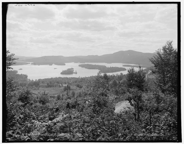 Blue Mountain Lake from Blue Mountain, Adirondack Mountains