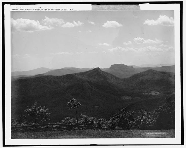 Blue Ridge from Mt. Toxaway, Sapphire County, N.C.