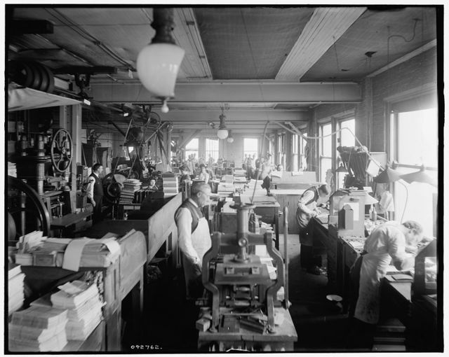 [Book bindery, Richmond & Backus Co., Detroit, Mich.]
