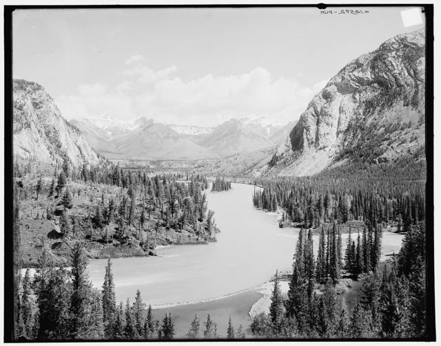 [Bow River Valley down from Banff Springs Hotel, Canadian National Park, Alberta]