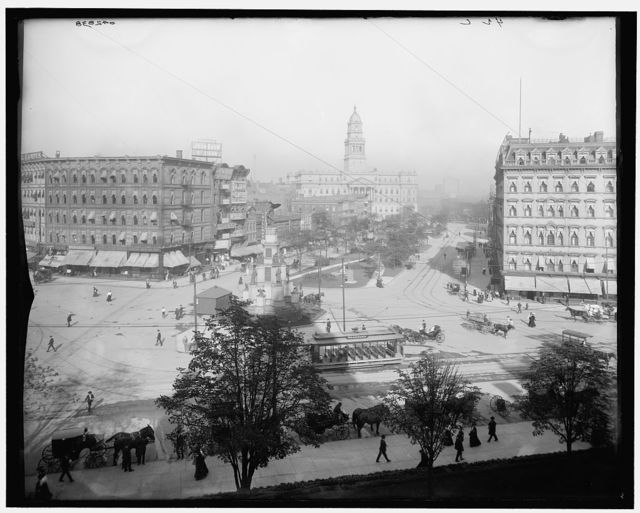 [Cadillac Square and County Bldg., Detroit, Mich.]