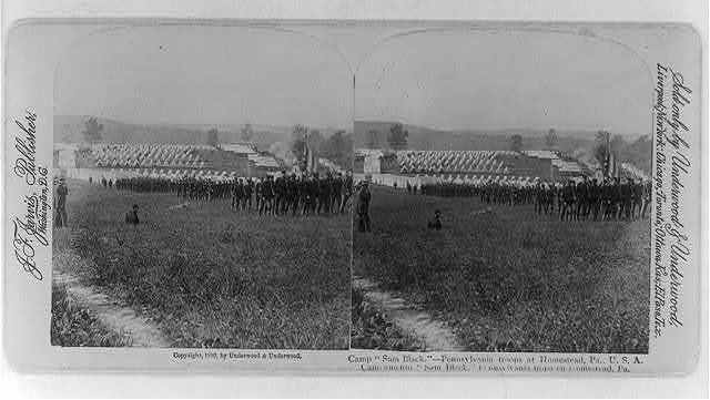 "Camp ""Sam Black,"" Pennsylvania troops at Homestead, Pa."