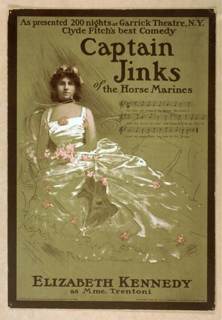 Captain Jinks of the Horse Marines as presented 200 nights at Garrick Theatre, N.Y. : Clyde Fitch's best comedy.
