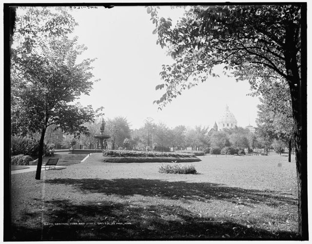Central Park and State Capitol, St. Paul, Minn.