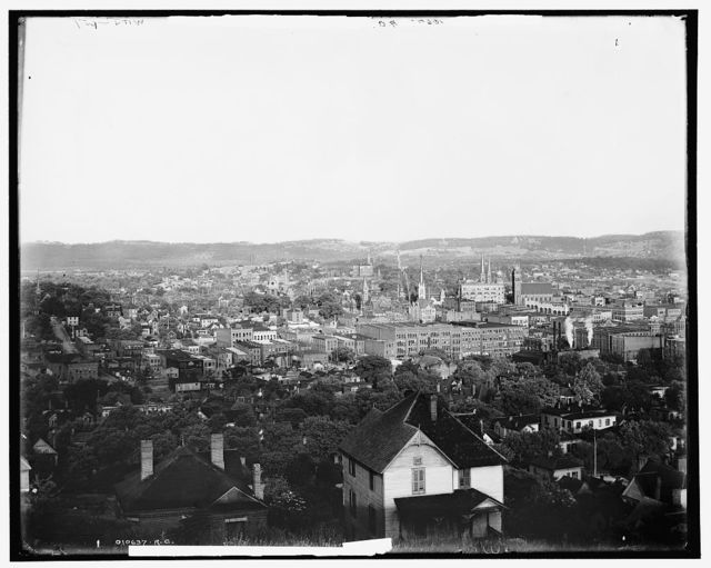 Chattanooga and Missionary Ridge from Cameron Hill
