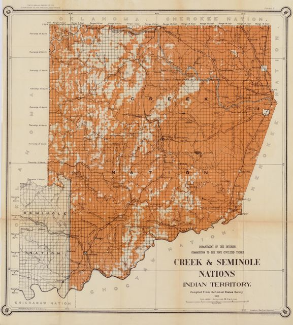 Creek & Seminole Nations, Indian territory : compiled from the United States Survey /