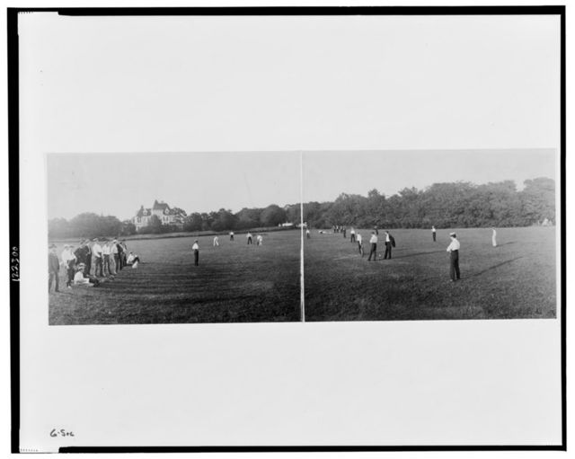 Cricket game, Newport