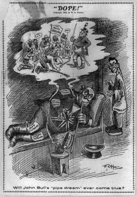 """""""Dope!"""" Will John Bull's """"pipe dream"""" ever come true? / F. Opper."""