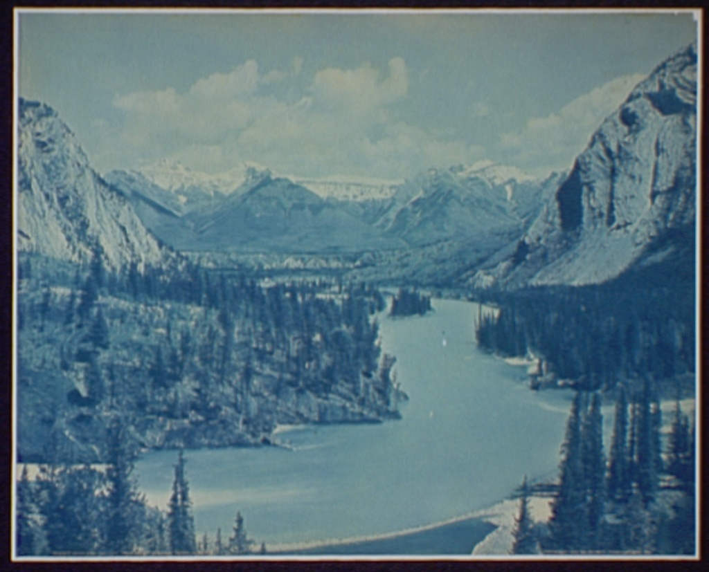 Down Bow Valley from Banff Springs Hotel, Alberta