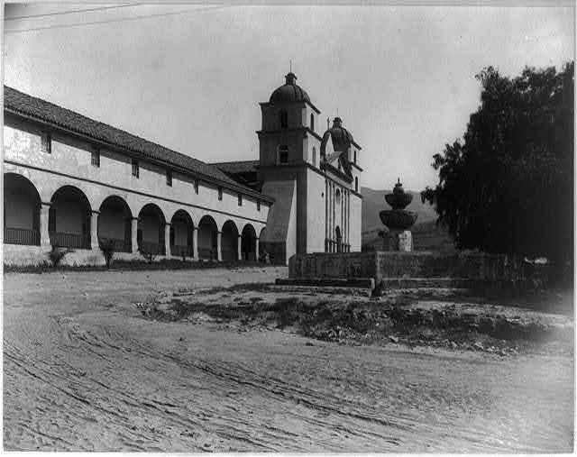 [Facade of mission, Santa Barbara, California]