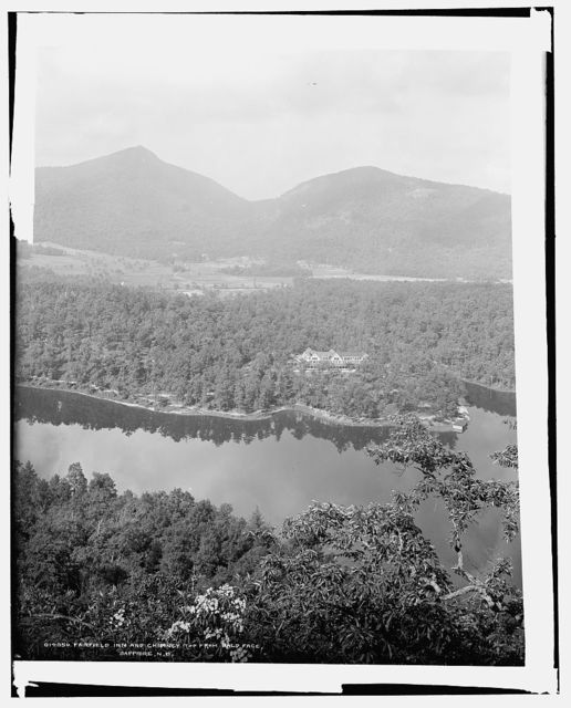 Fairfield Inn and Chimney Top from Bald Face, Sapphire, N.C.
