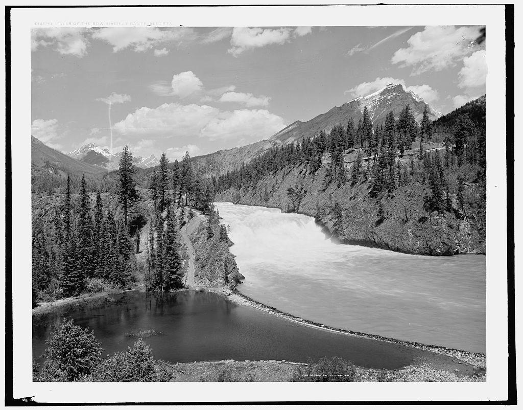 Falls of the Bow River at Banff, Alberta