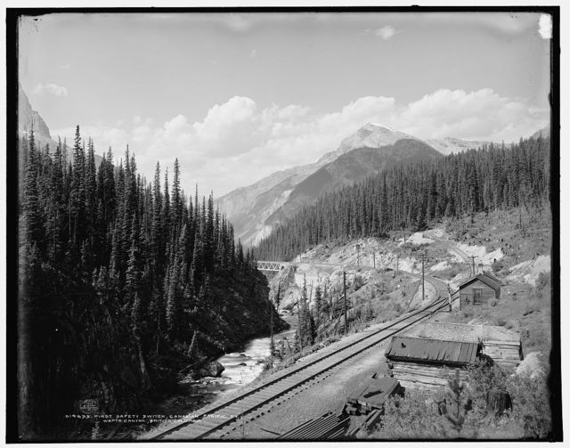 First safety switch, Canadian Pacific Ry., Wapta Canyon, British Columbia