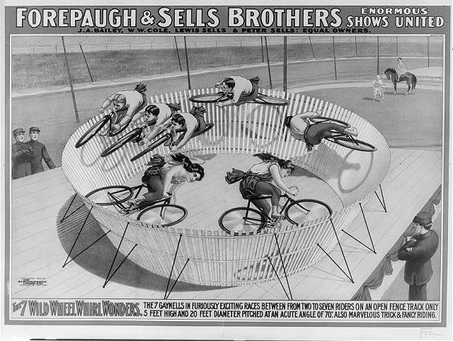Forepaugh & Sells Brothers enormous shows united. The 7 wild wheel whirl wonders.  The 7 Gaynells ...