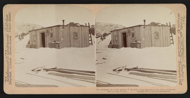 Fort Magnesia, the winter quarters of the Stein Arctic Expedition, Cape Sabine, Ellesmere Land (79 deg. N. lat.)