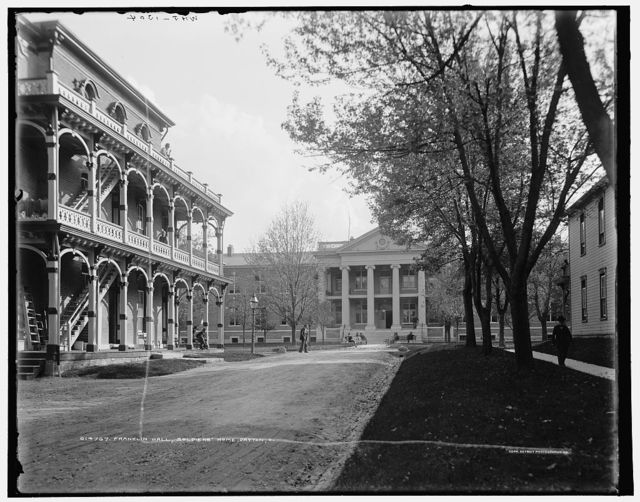 Franklin Hall, Soldiers' Home, Dayton, O[hio]