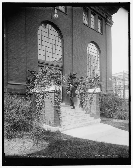 Front entrance to power house, National Cash Register [Company], Dayton, O[hio]