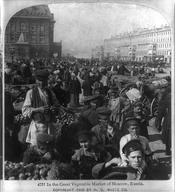 In the Great Vegetable Market of Moscow, Russia
