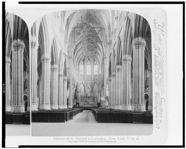Interior of St. Patrick's Cathedral, New York, U.S.A.