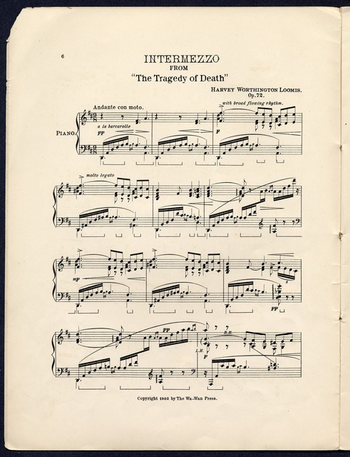 Intermezzo from The tragedy of death by Harvey Worthington Loomis and Dawn, a development of Indian melodies by Arthur Farwell