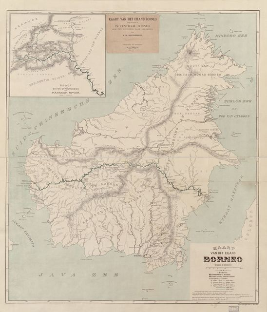 Kaart van het Eiland Borneo /