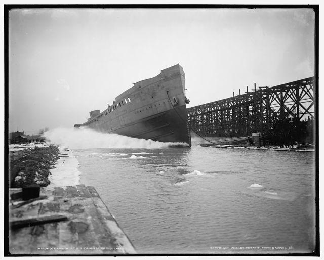 Launch of S.S. Tionesta, Dec. 15, 1902