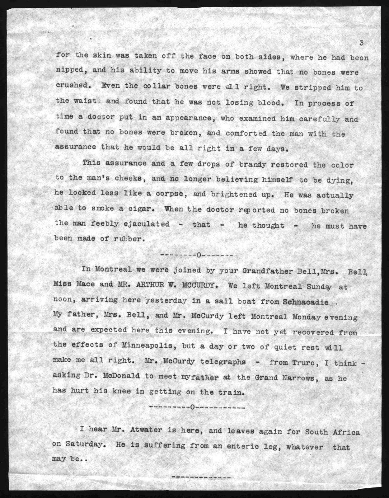 Letter from Alexander Graham Bell to Marian Bell Fairchild, from July 22, 1902 to July 24, 1902