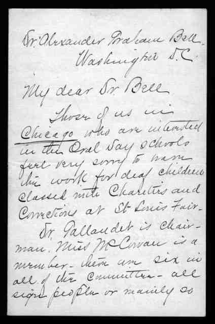 Letter from Evelyn A. Frake to Alexander Graham Bell, November 24, 1902