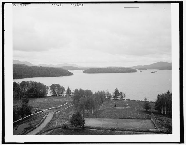 [Lower Saranac Lake from the Algonquin, Adirondack Mountains]