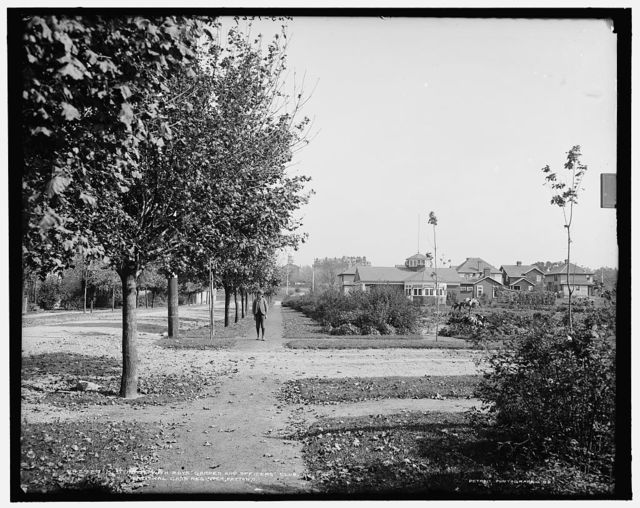 M Street with boys' garden and officers' club, NationalCash Register [Company], Dayton, O[hio]