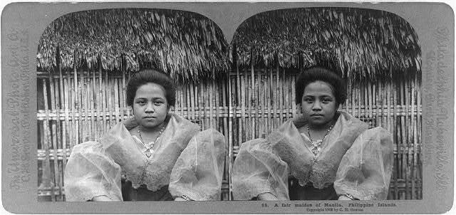 Manila, PHilippine Islands: A fair maiden of Manila