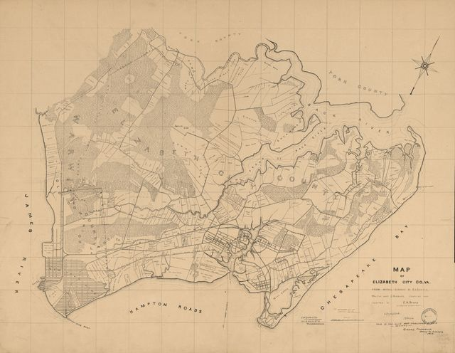 Map of Elizabeth City Co., Va. : from actual surveys by E.A. Semple, Wm. Ivy and C. Hubbard /