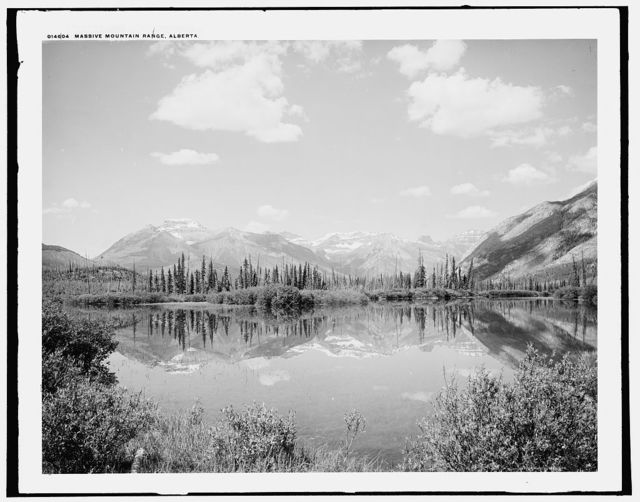 Massive mountain range, Alberta