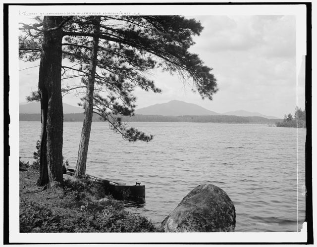 Mt. Ampersand [i.e. Ampersand Mountain] from Miller's Pond, Adirondack Mts., N.Y.