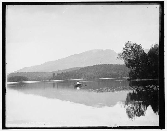 Mt. Ampersand [i.e. Ampersand Mountain] from Round Lake, Adirondack Mountains