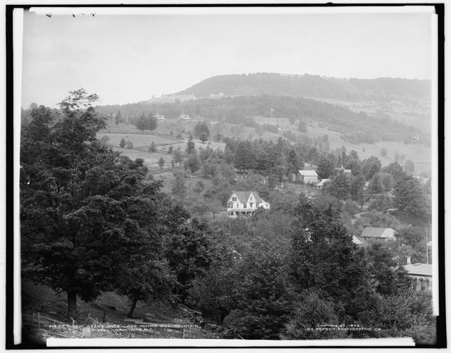 New Grand Hotel and Monka Hill Mountain, Catskill Mountains, N.Y.