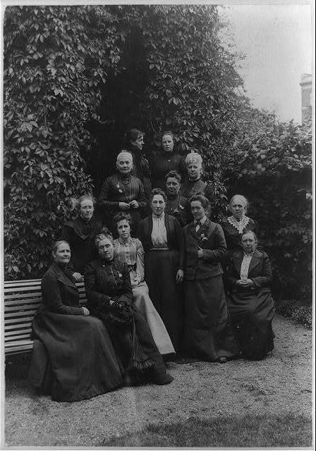 Official representatives of the International Council of Women assembled at Copenhagen, July 10, 11, 12, 1902