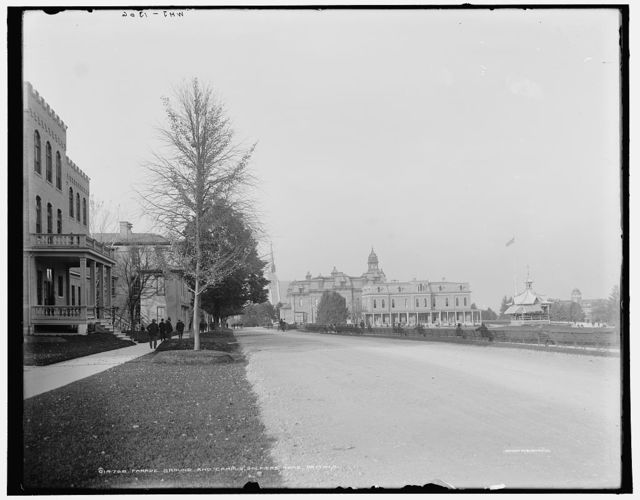 Parade ground and campus, Soldiers' Home, Dayton, O[hio]