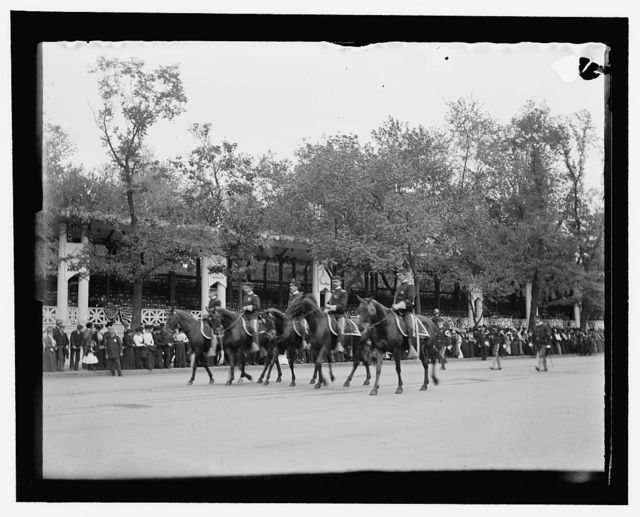 Part of the military parade of first day. The staff of the 1st Regt. D.C. National Guard