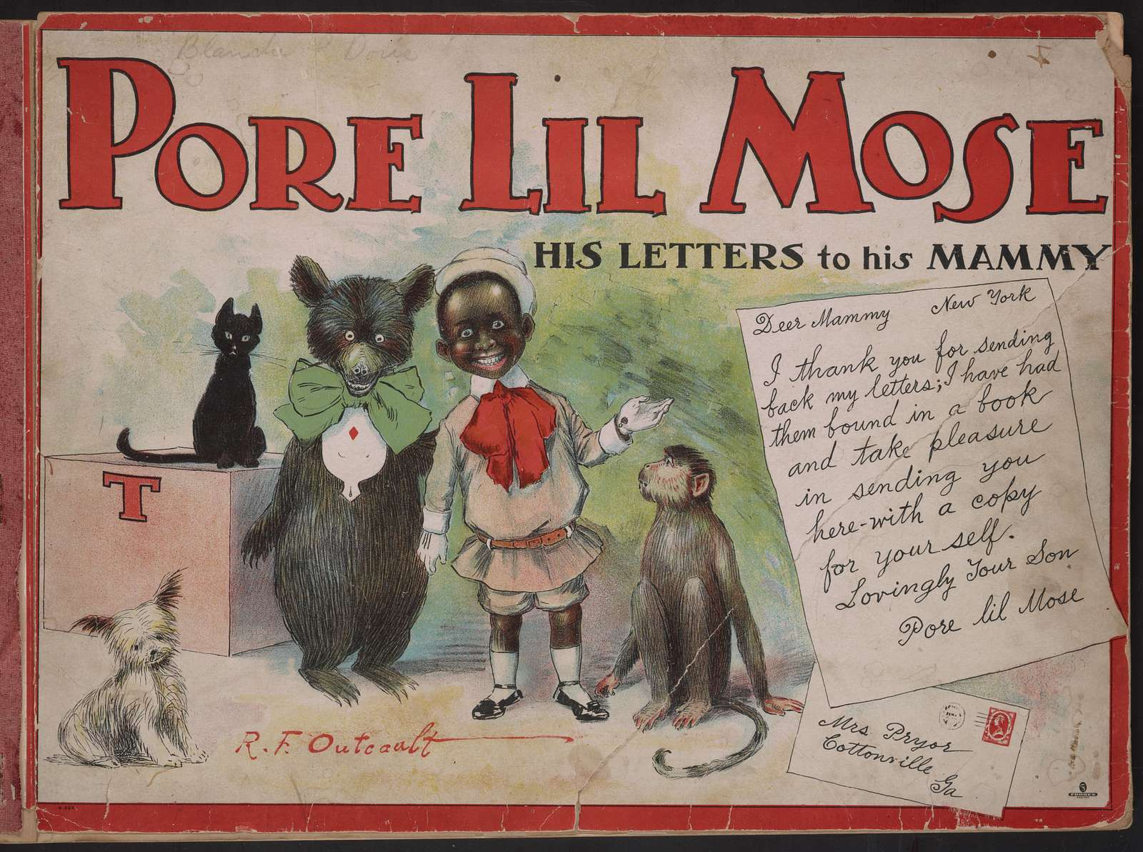 Pore lil Mose; his letters to his mammy