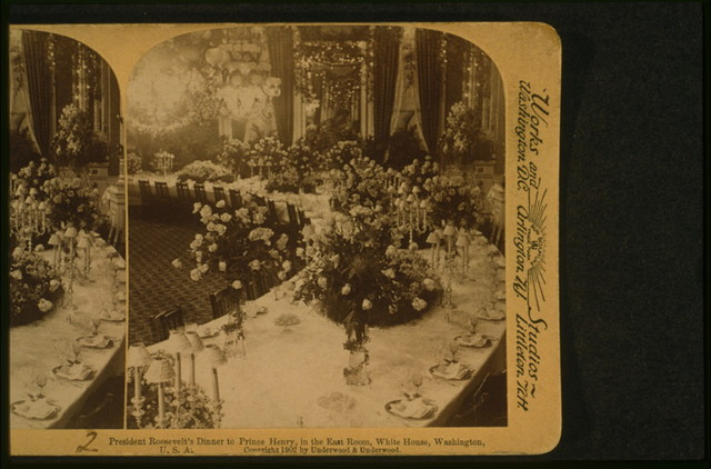 President Roosevelt's dinner to Prince Henry, in the East Room, White House, Washington, U.S.A.