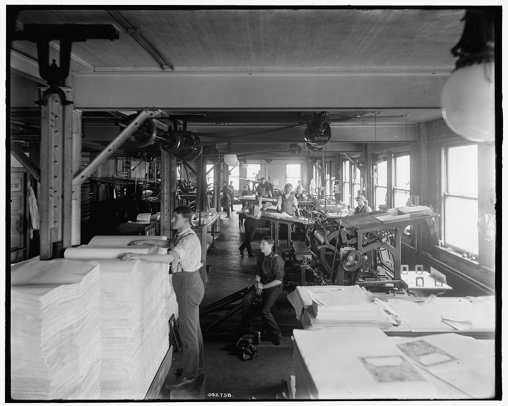 [Press room, Richmond & Backus Co., Detroit, Mich.]