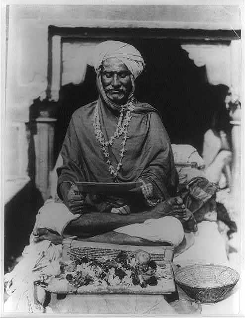 [Priest sitting. India. 1902]