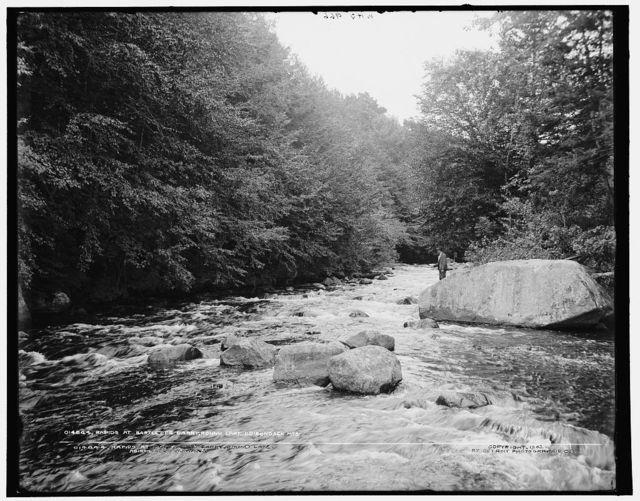 Rapids at Bartlett's carry, Round Lake, Adirondack Mountains