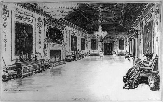 [Reception room or painting gallery in a mansion] / C. Gibson.