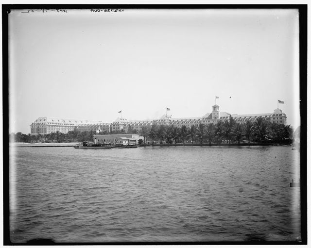 [Royal Poinciana from wharf, Palm Beach, Fla.]