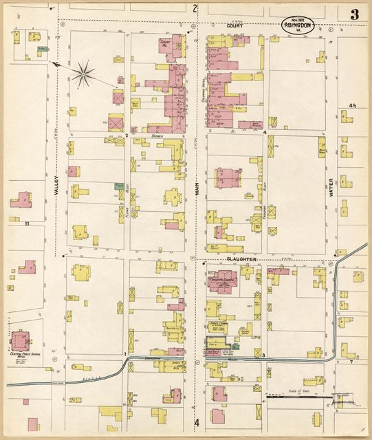 Sanborn Fire Insurance Map from Abingdon, Washington County, Virginia.